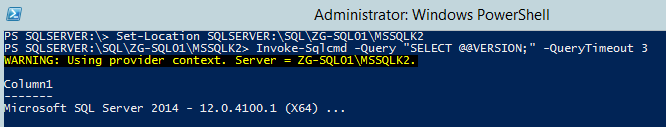 Check SQL Server version PS