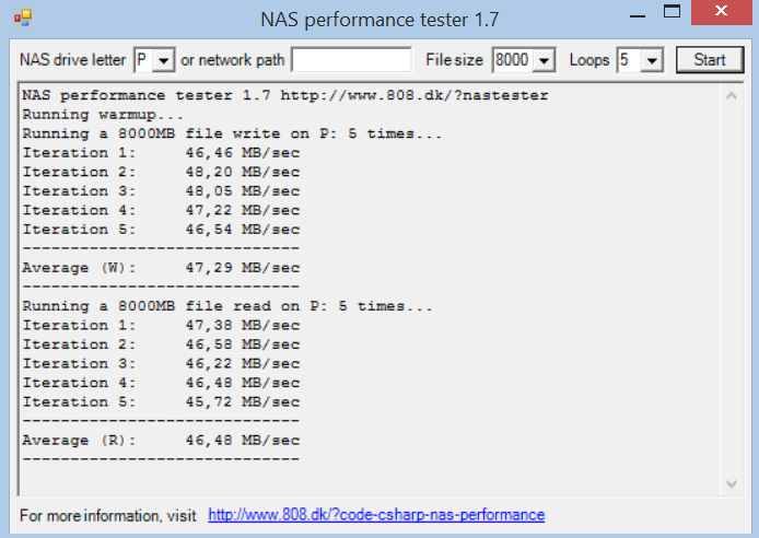 NAS Performance Tester 8GB