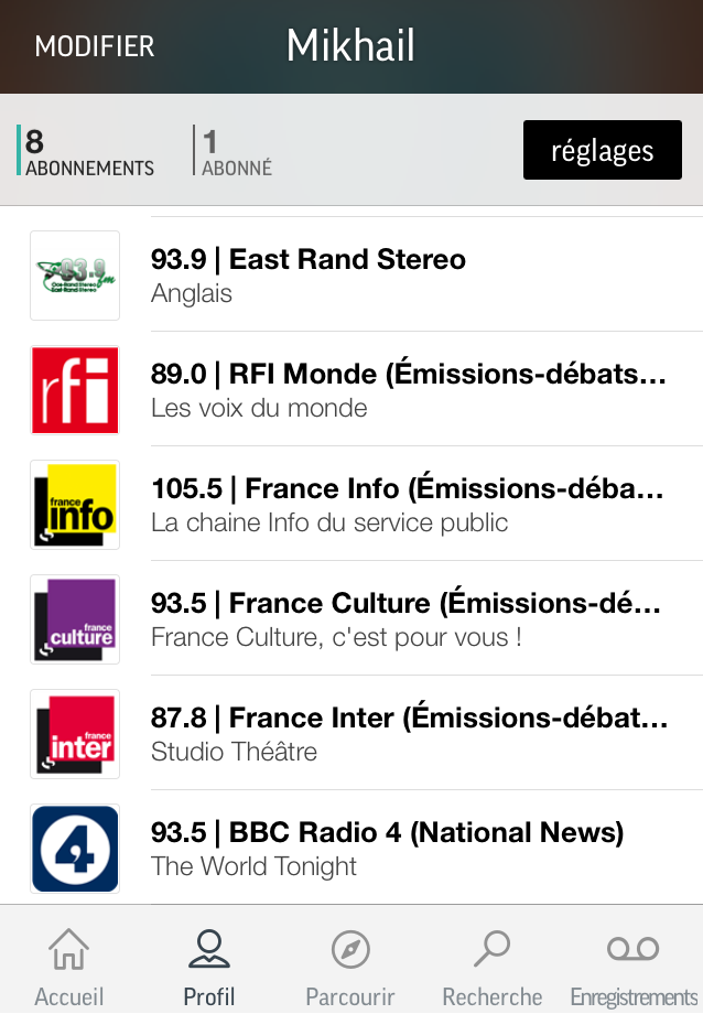 TuneIn French Radio