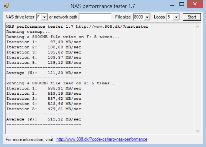 NAS Test 8000MB