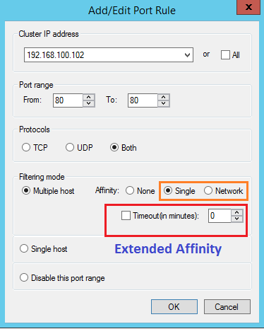 Windows NLB Extended Affinity