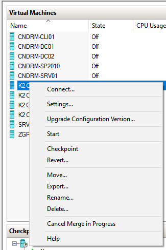 Hyper-V Upgrade Configuration Version