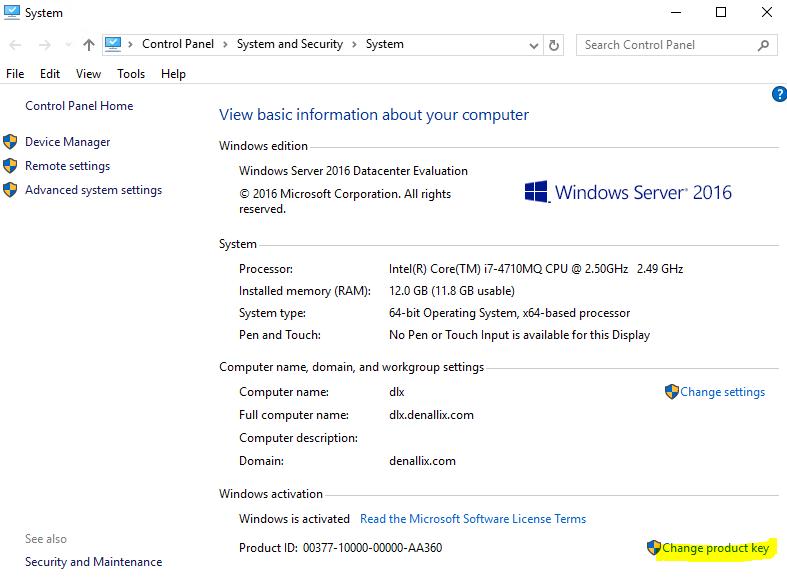 windows server 2016 full activated