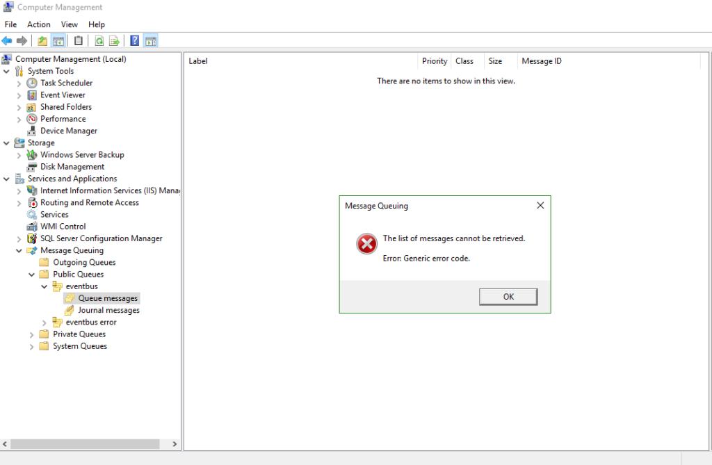 msmq service windows server 2012